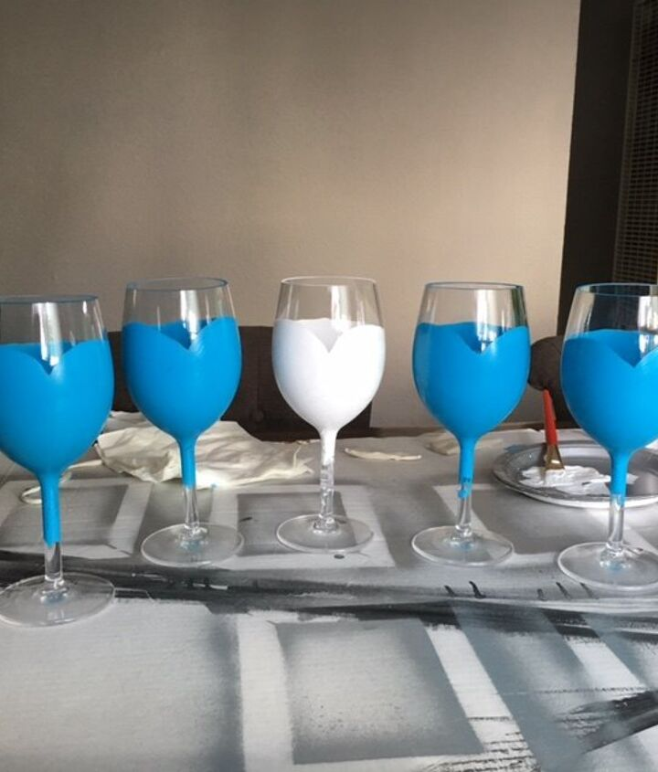 Painted glasses