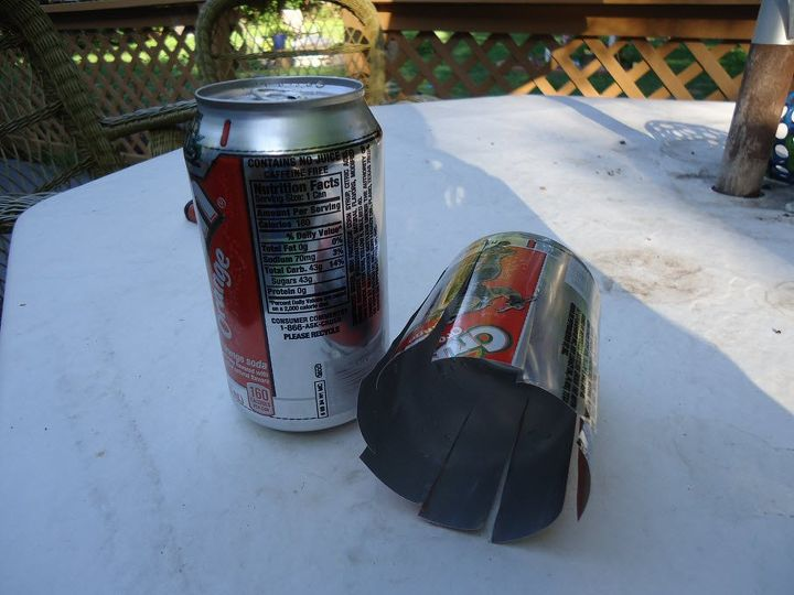 soda can wind spinner, crafts, how to, landscape, painting, repurposing upcycling