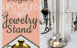 classy upcycled jewelry stand, crafts, how to, organizing, painting, repurposing upcycling