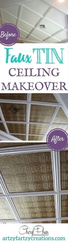 tin ceiling on a budget, painting, wall decor