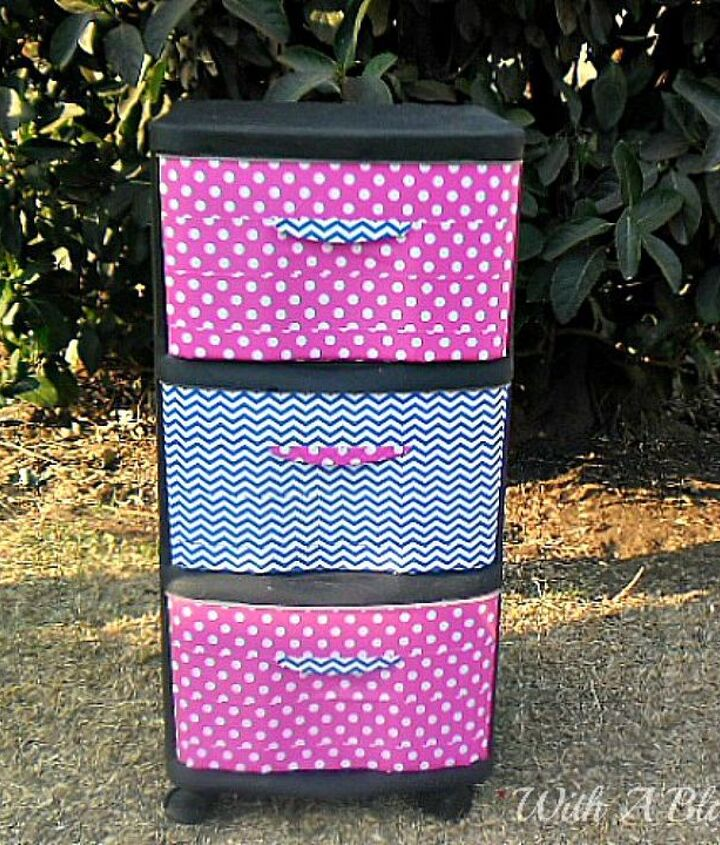 s 10 clever ways to decorate plastic bins, home decor, storage ideas, Update them with duct tape