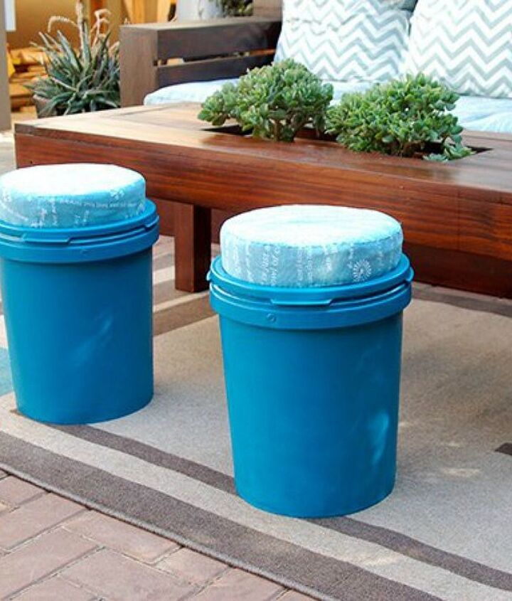s 10 clever ways to decorate plastic bins, home decor, storage ideas, Transform them into darling seats