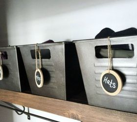 Home Decor Storage Ideas Part - 34: Add Wooden Tags For Cute Label Options