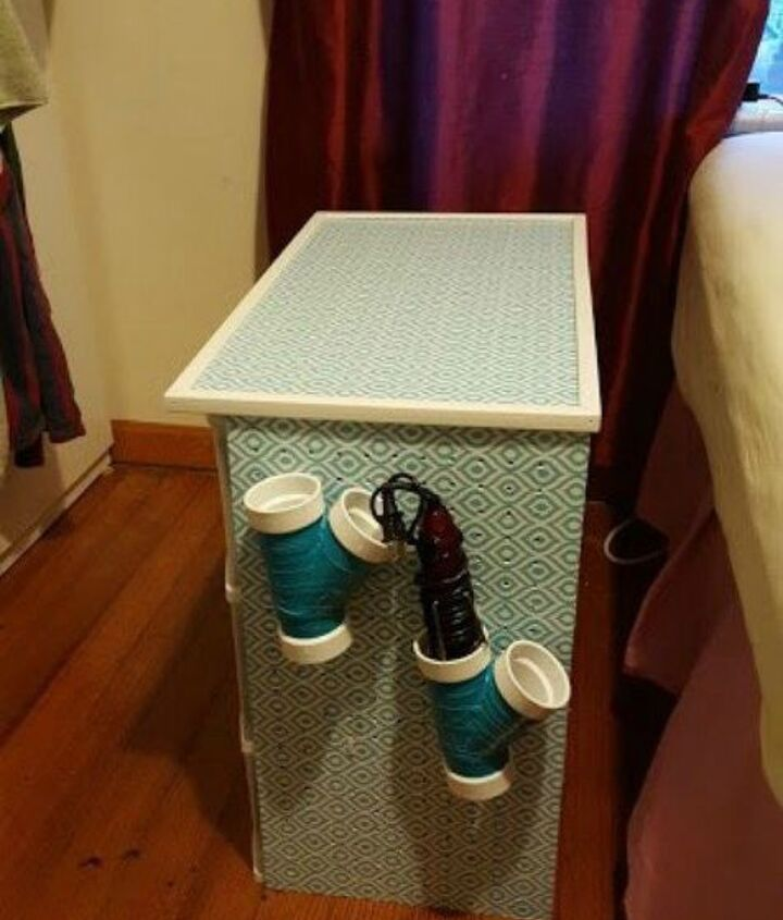 s 10 clever ways to decorate plastic bins, home decor, storage ideas, Double it as a pegboard
