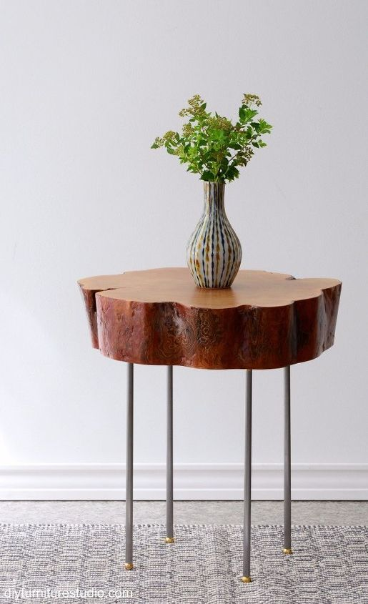 Tutorial tree slice side table with diy legs made of lamp pipe tutorial tree slice side table with diy legs made of lamp pipe rustic furniture aloadofball Choice Image