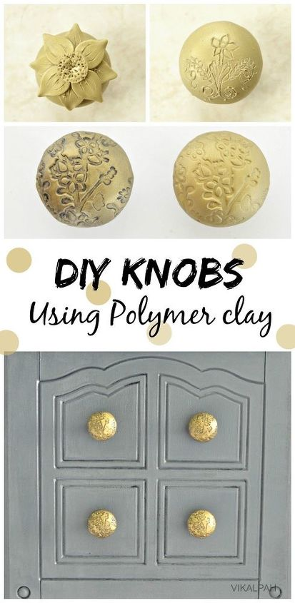 diy knobs using polymer clay, crafts, how to