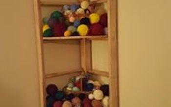 Ladder Becomes a Corner Shelf
