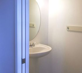 12 Hour Half Bath Reno , Bathroom Ideas, Home Improvement, Before Builder  Basic
