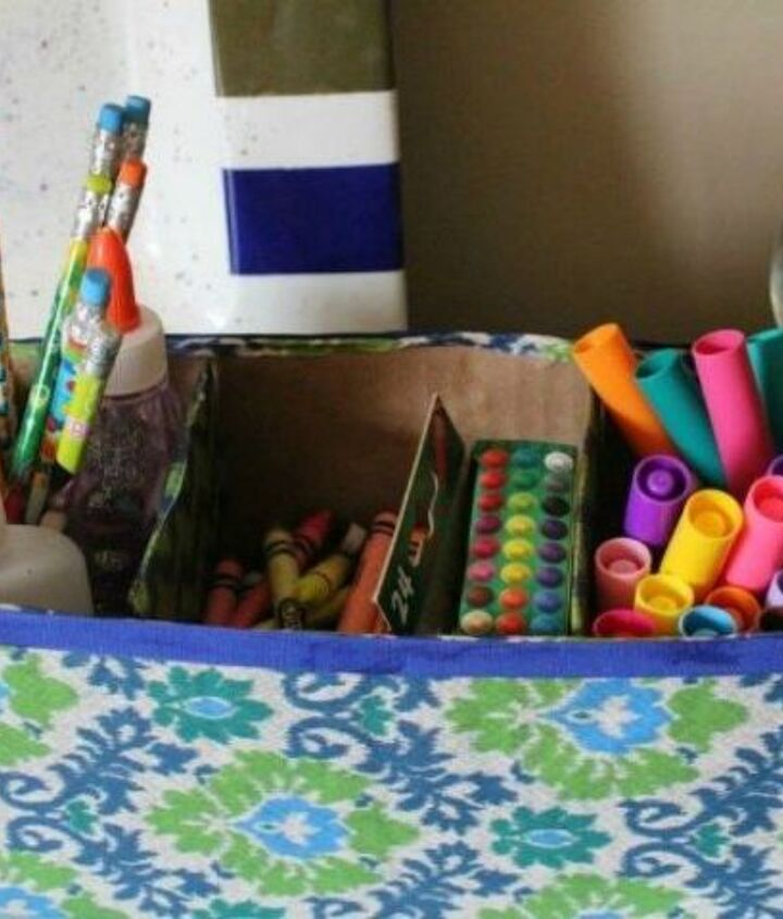 s 10 free storage ideas using cardboard boxes, storage ideas, Create a desk organizer for pens and pencils