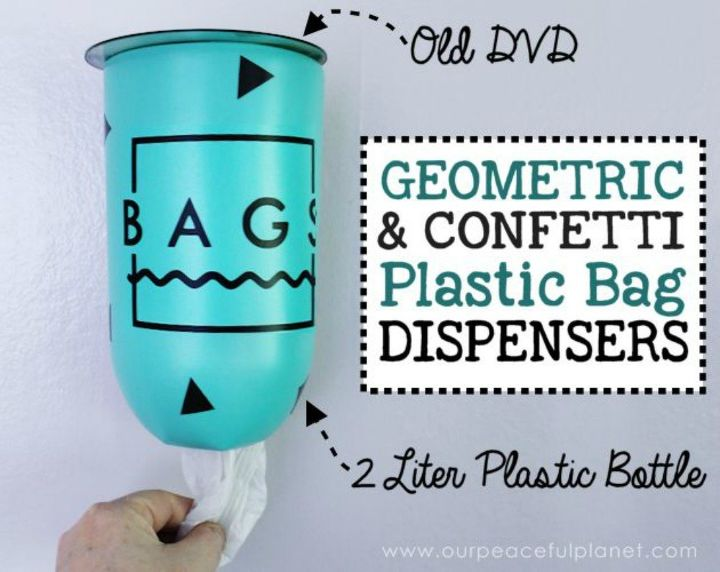 s 15 brilliant things to do with your old cds, repurposing upcycling, Upcycle it into a plastic bag dispenser