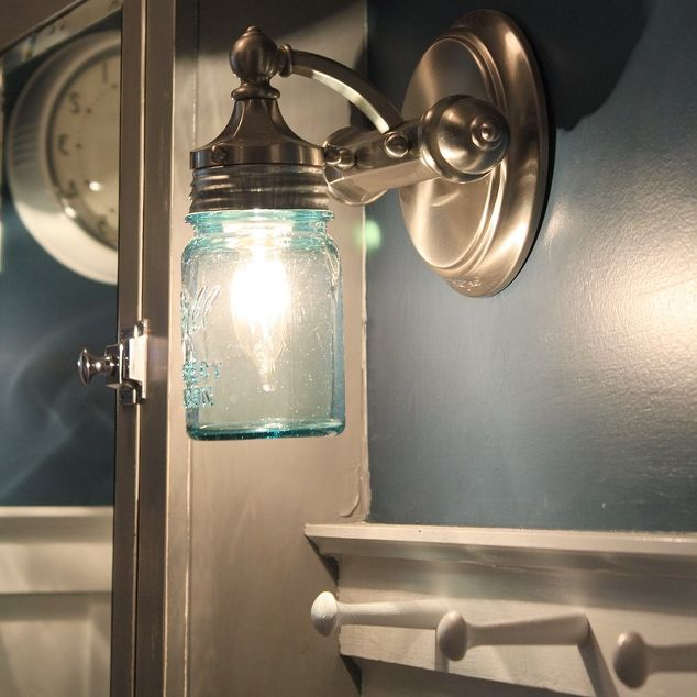 s 13 homemade wall sconces that doubles as wall decor, home decor, wall decor, Replace your lamps with mason jars
