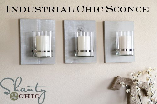 s 13 homemade wall sconces that doubles as wall decor, home decor, wall decor, Use vases and stained wood for a chic design