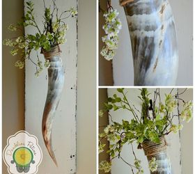 hang greenery with a longhorn