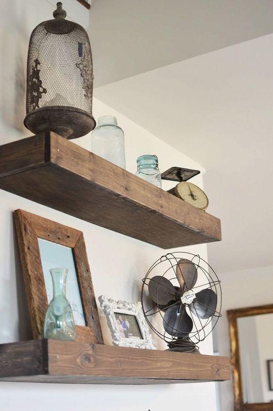 how to make floating farmhouse shelves hometalk