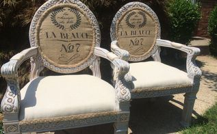 upholstering french provincial style chairs sharing the process, how to, painted furniture, reupholster