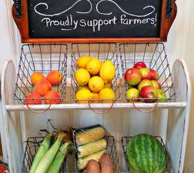 Blanket Rack To Farmhouse Vegetable Stand, Kitchen Cabinets, Kitchen  Design, Organizing