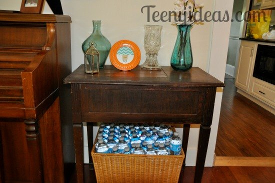 vintage sewing table to nightstand makeover, painted furniture, repurposing upcycling