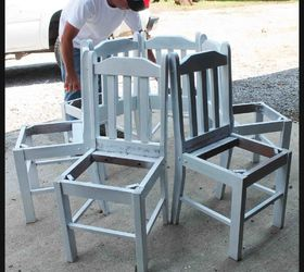 Delicieux Tree Bench Made From Kitchen Chairs, Diy, Outdoor Furniture, Repurposing  Upcycling, Woodworking