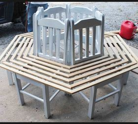 Elegant Tree Bench Made From Kitchen Chairs, Diy, Outdoor Furniture, Repurposing  Upcycling, Woodworking