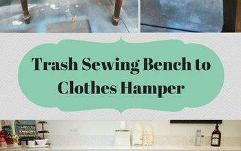 trash sewing bench to clothes hamper, cleaning tips, laundry rooms, repurposing upcycling, storage ideas