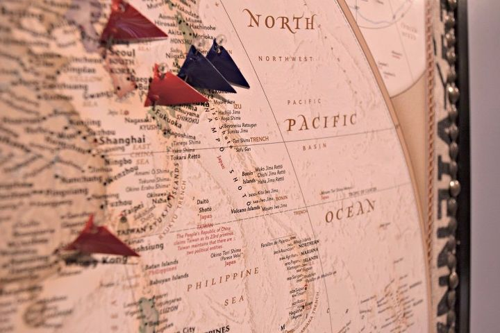 Mark Your Travels With A World Map Pinboard Hometalk - World map to mark travels