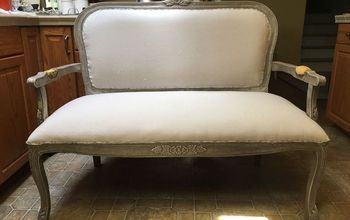 How to Reupholster a Dated Settee - Restoration Hardware Style!