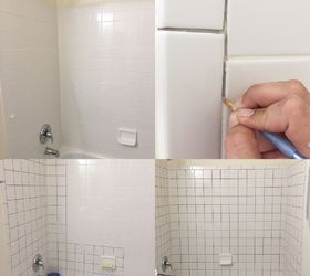 Updating bathroom tiles painting