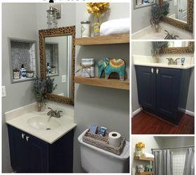 Updating builder grade bathroom