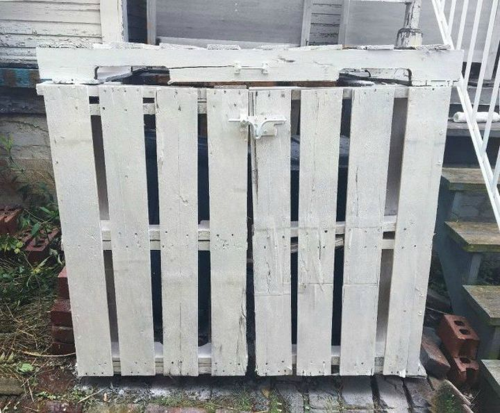 s tired of your ugly trash can here are 12 amazing ideas , crafts, woodworking projects, Build a fenced area for them