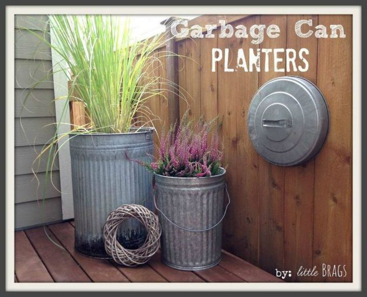 s tired of your ugly trash can here are 12 amazing ideas , crafts, woodworking projects, Use them as flower pots