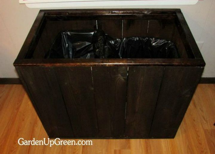 s tired of your ugly trash can here are 12 amazing ideas , crafts, woodworking projects, Or build a cute trash box inside your home