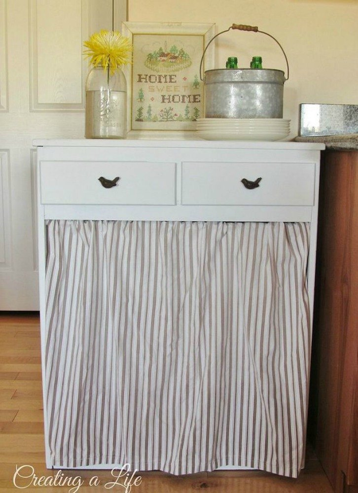 Tired Of Your Ugly Trash Can Here Are Amazing Ideas Hometalk - Trendy hidden kitchen trash cans