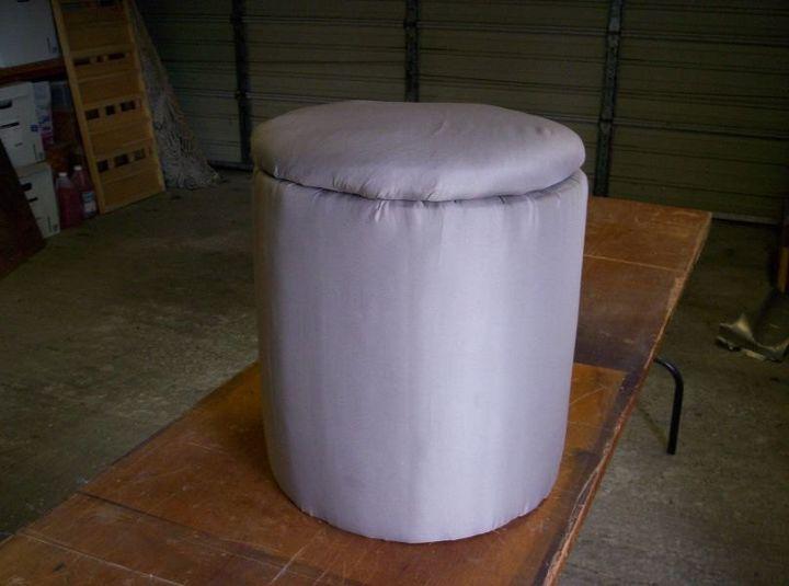 ottoman with storage, painted furniture, storage ideas