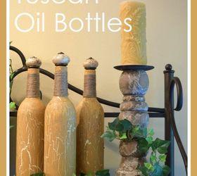 repurposed tuscan oil bottles crafts painting repurposing