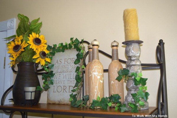 repurposed tuscan oil bottles, crafts, painting, repurposing upcycling