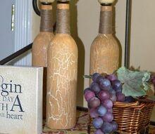 repurposed tuscan oil bottles, crafts, painting, repurposing upcycling
