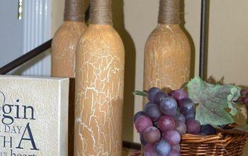Repurposed Tuscan Oil Bottles