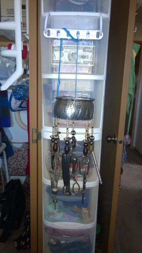 kitchen chic wind chime, crafts, repurposing upcycling