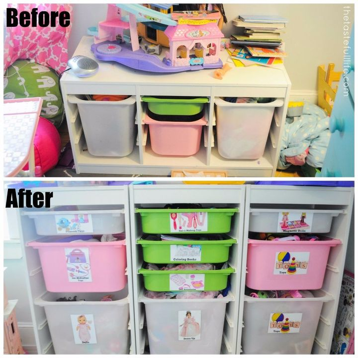 Bookshelf Storage Chest Kids Toy Box Plastic Play Room: DIY Toy Box Labels + Small Space Toy Storage Solution