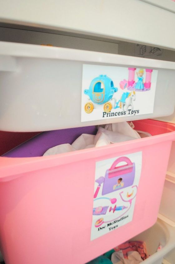 DIY Toy Box Labels + Small Space Toy Storage Solution | Hometalk