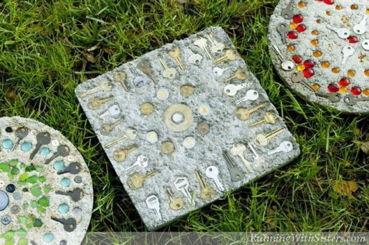 s 11 genius things people do with their old keys, home decor, They transform them into stepping stones