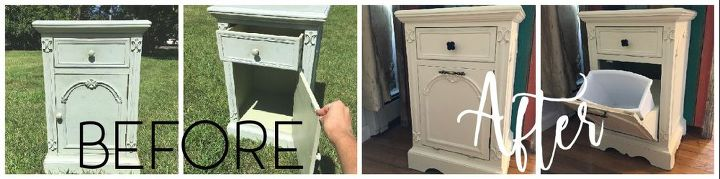 Hide Your Trash Can With A Tilt Out Cabinet Hometalk