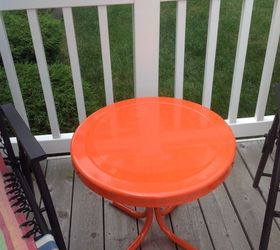 Would Like To Add Some Design To The Top Of This Table By Adding Color But  Donu0027t Know What Kind Of Paint To Use On Metal.