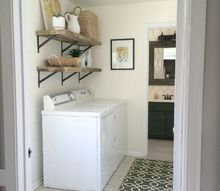 bright white and light laundry room makeover, laundry rooms