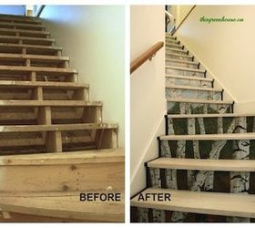 Charmant Surprise Stair Risers A Birch Forest, How To, Painting, Stairs