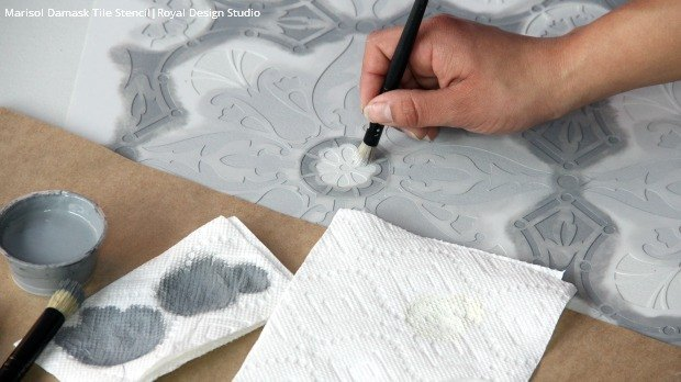 How To Paint A Hardwood Floor With Tile Stencils Hometalk
