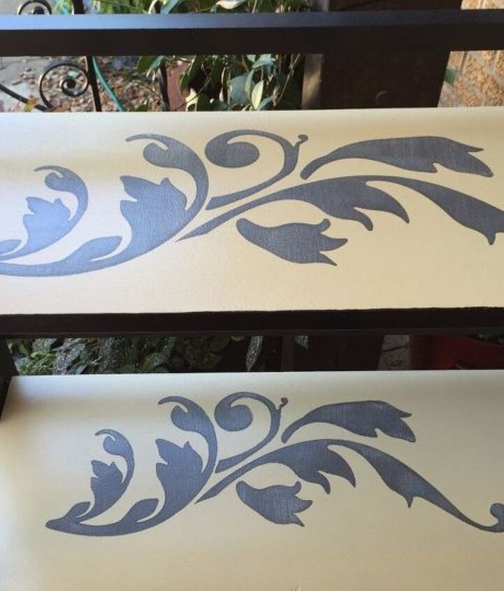 grown up shelf re do from childish to chic using stencils, how to, painted furniture, shelving ideas