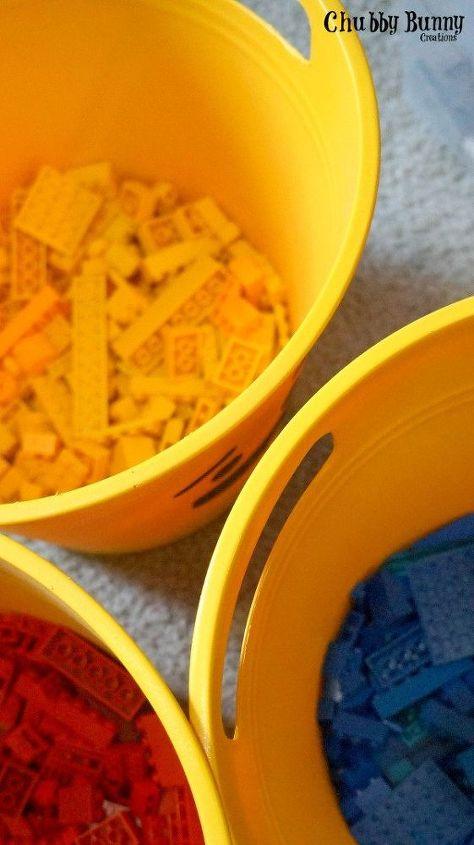 silly face lego storage, crafts, organizing, painting, storage ideas