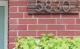 diy modern address sign, crafts, how to, outdoor furniture, painted furniture