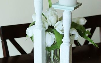 DIY Tall Candlesticks Made From a Baluster!